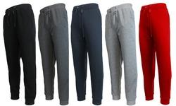 Galaxy By Harvic Men's Jogger Pants: Heather Grey/large