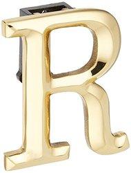 Michael Healy Designs Monogram Letter R Door Knocker - Brass (MHMR1)