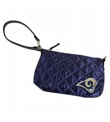 NFL St. Louis Rams Retro Quilted Wristlet, Navy