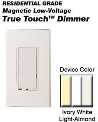 Leviton TTM10-1LZ, True Touch Preset Digital 1000VA (800W) Magnetic Low Voltage Dimmer, Single Pole and 3-Way, White/Ivory/Light Almond