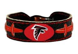 NFL Atlanta Falcons Black Team Color Football Bracelet