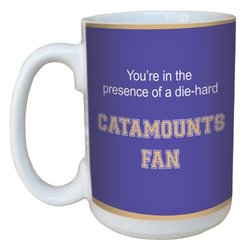 Tree-Free Greetings lm44952 Catamounts College Basketball Ceramic Mug with Full-Sized Handle, 15-Ounce