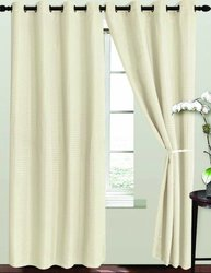 RT Designers Collection Ashton Window Curtain Panel, 54 by 84-Inch, Beige