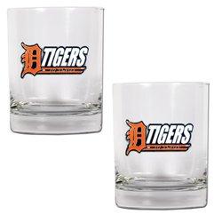 MLB Detroit Tigers Two Piece Rocks Glass Set
