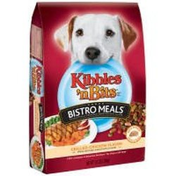 Kibbles 'n Bits Bistro Grilled Chicken Flavor Dry Dog Food, 3.5-Pound