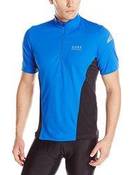 Gore Bike Wear Men's Short Sleeve Jersey -Brilliant Blue/Black -Size:Small