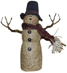 """Craft Outlet 9"""" Top Hat Snowman Figurine"""