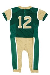 Fast Asleep NCAA Boys Infant Uniform Pajamas- Green/Gold - Size:12-18 Month