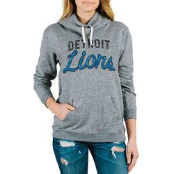 Women's Detroit Lions Steel Sunday Pullover Hoodie - Medium Heather/XX-L