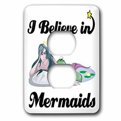 lsp_105347_6 I Believe in Mermaids 2 Plug Outlet Cover