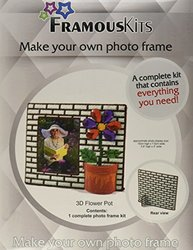 Framous Kits 3D Flower Pot Framous Plastic Canvas Kit, 5.9 by 7-Inch