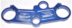 Yana Shiki Anodized Blue Top Clamp with Solid Design for Suzuki GSX-R 1000