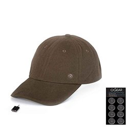 Power Gear Coin Battery Hat with Attachable LED Light, Brown