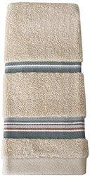 Saturday Knight Madison Stripe Finger Tip Towel, Blue