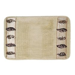 Popular Home The Shimmer Collection Banded Bath Rug, Gold