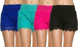Elegant Apparel Women's Lace Crochet Summer Shorts - Assorted - Size: S