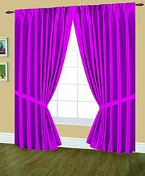 Editex Home Textiles Elaine Lined Pinch Pleated Window Curtain, 96 by 84-Inch, Pink