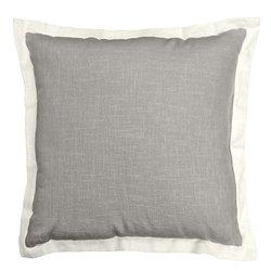 Veratex Central Park 100% Linen Made in the USA Linen Throw Pillow, Gray