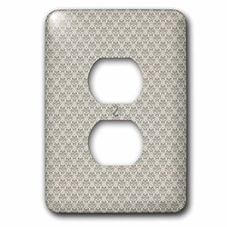 lsp_215694_6 Charcoal Gray, Small Diamond Damask Pattern 2 Plug Outlet Cover