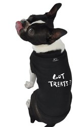 Doggie Tank Top, Got Treats, Black, Medium