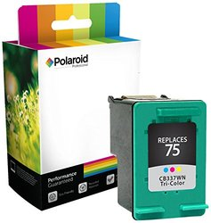 Polaroid Professional H-75CLR-PRO Remanufactured Inkjet Cartridge Replacement for HP 75, Tri-Color Ink