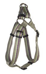 Hamilton Highland Collection Adjustable Easy on Dog Harness, 5/8-Inch by 12 to 20-Inch, Plum Stripe/Sage