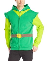 Nintendo Link Hood Men's Hoodie - Green/Gray - Size: X-Large
