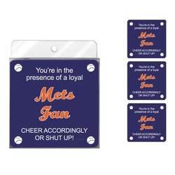 Tree-Free Greetings NC38094 Mets Baseball Fan 4-Pack Artful Coaster Set
