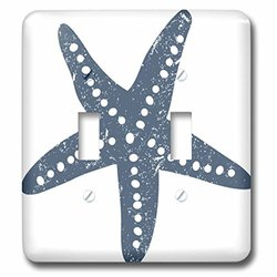 lsp_213846_2 Blue and White Star Fish Illustration Double Toggle Switch