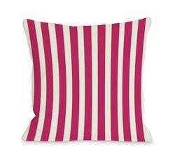 """OBC Bentin Home Decor 18""""x 18"""" Outdoor Throw Pillow - Stripes Fuchsia"""