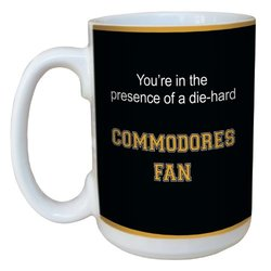 Tree-Free Greetings lm44597 Commodores College Football Fan Ceramic Mug with Full-Sized Handle, 15-Ounce