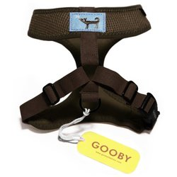 Gooby Choke Free Freedom Harness for Small Dogs, X-Large, Brown