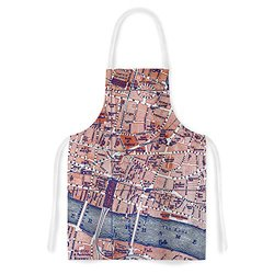 "KESS InHouse Alison Coxon ""City Of London"" Map Apron - Multi-Color"