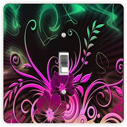 Rikki Knight Floral Glow-Single Toggle Light Switch Plate
