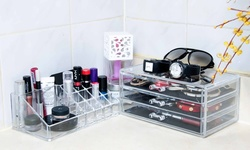Innova 3 Drawers Acrylic Tabletop Cosmetics Box - Three Medium Drawers