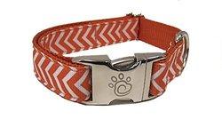 Chief Furry Officer Designer Fabric Dog Collar, Large