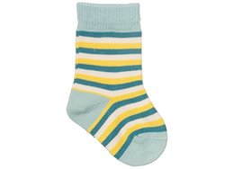 Gr do (Groedo) Organic Cotton Baby Infant Socks (3-pack) Made in Germany (3-6 months, Water/yellow/white)