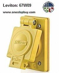 Leviton Flush Receptacle w/Cover Locking Blade Wetguard - 3-Pack -Yellow