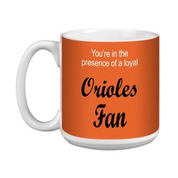 Tree-Free Greetings XM28079 Orioles Baseball Fan Artful Jumbo Mug, 20-Ounce