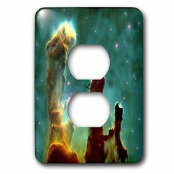 lsp_204811_6 Print of Eagle Nebula in Outer Space 2 Plug Outlet Cover