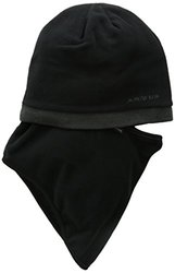 Seirus Innovation Men's Fleece Knit Quick Clava Hat - Black/Charcoal