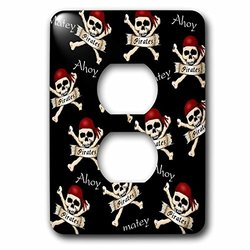 lsp_204403_6 Print of Cute Ahoy Matey Pirate Toss 2 Plug Outlet Cover
