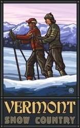 Northwest Art Mall Vermont Snow Country Wall Art Unframed Poster Print by Paul A. Lanquist, 11-Inch by 17-Inch