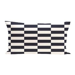 E By Design Stair Stepping Stripes Print Outdoor Seat Cushion - Bewitching