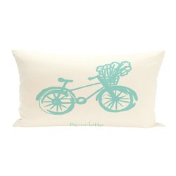 E By Design Polyester Decorative Outdoor Seat Cushion - Bicyclette