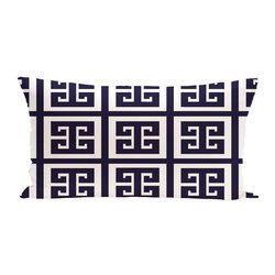 E By Design Geometric Decorative Outdoor Seat Cushion - Spring Navy