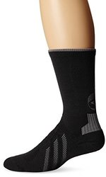 Showers Pass Torch Reflective Crew Socks, Black, Small/Medium