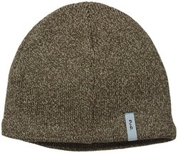 FU-R Headwear Men's Solid Fleece Lined Wool Beanie - Earth - Size: XL