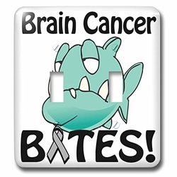lsp_113550_2 Brain Cancer Bites Awareness Ribbon Cause Design Double Toggle Switch