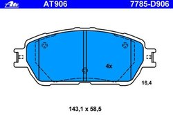 ATE Premium One Disc Brake Pad Set for Car & Light Truck (AT864)
